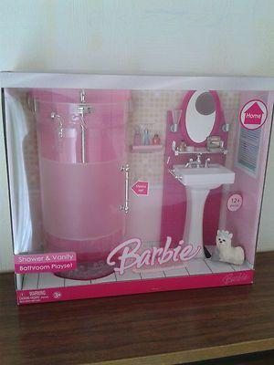 Barbie Home Shower and Vanity Luxury Bathroom Playset 2006 New VHTF | eBay