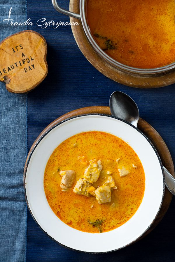 Pumpkin Soup with coconut milk, carrots, and chicken
