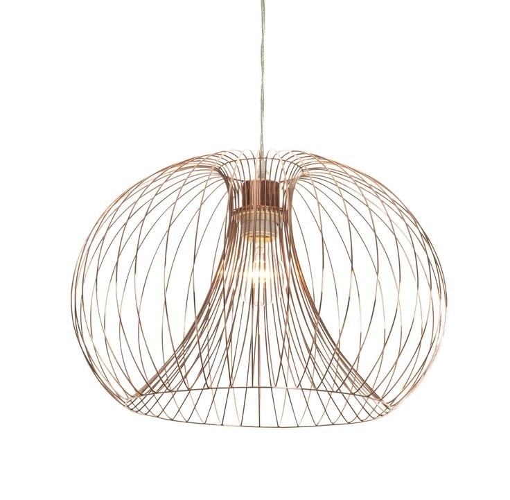 Jonas copper wire pendant ceiling light departments diy at bq
