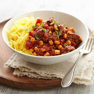 Spaghetti Squash with Chili