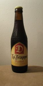 La Trappe's Dubbel.  One of my favorites - malty as hell...strong as hell...and tasty as hell.  I think this style is next on the list for this Brewmistress.