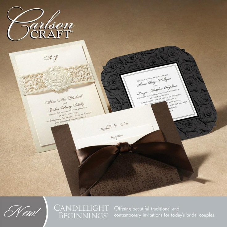 how much do invitations for wedding cost%0A The brand new Candlelight Beginnings album from Carlson Craft offers  classic  elegant wedding invitations