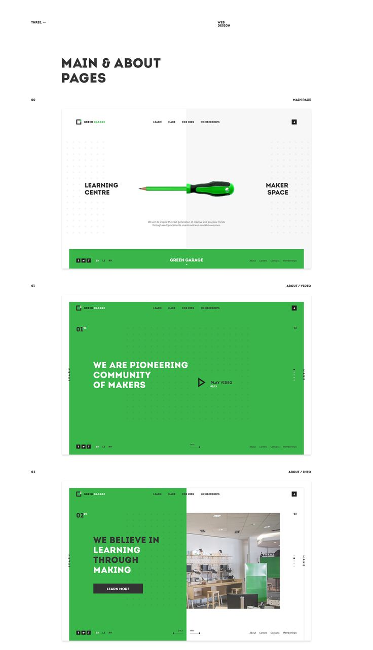 Green Garage on Web Design Served