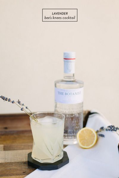 Lavender Bee's Knees Cocktail: http://www.stylemepretty.com/living/2015/01/13/lavender-bees-knees-cocktail/ | Photography: Jodee Debes - http://jodeedebes.com/
