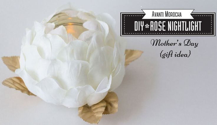 DIY Rose Nightlight - Luz de Noche  /Mother's Day Gift Idea -  (Plastic ...