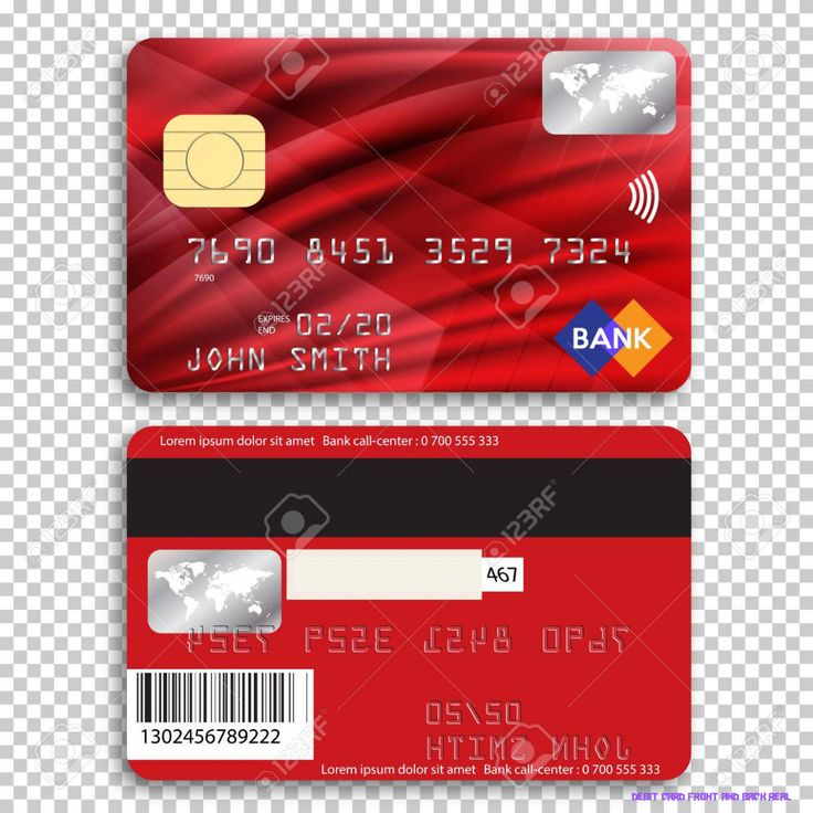 credit card front and back photo