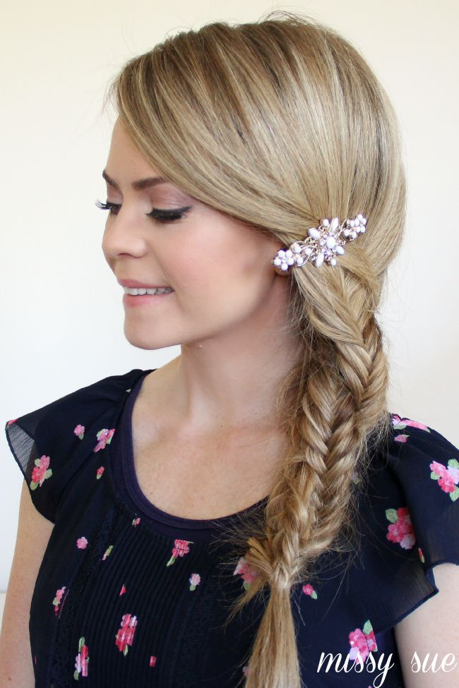 Embellished Spiral Fishtail Braid