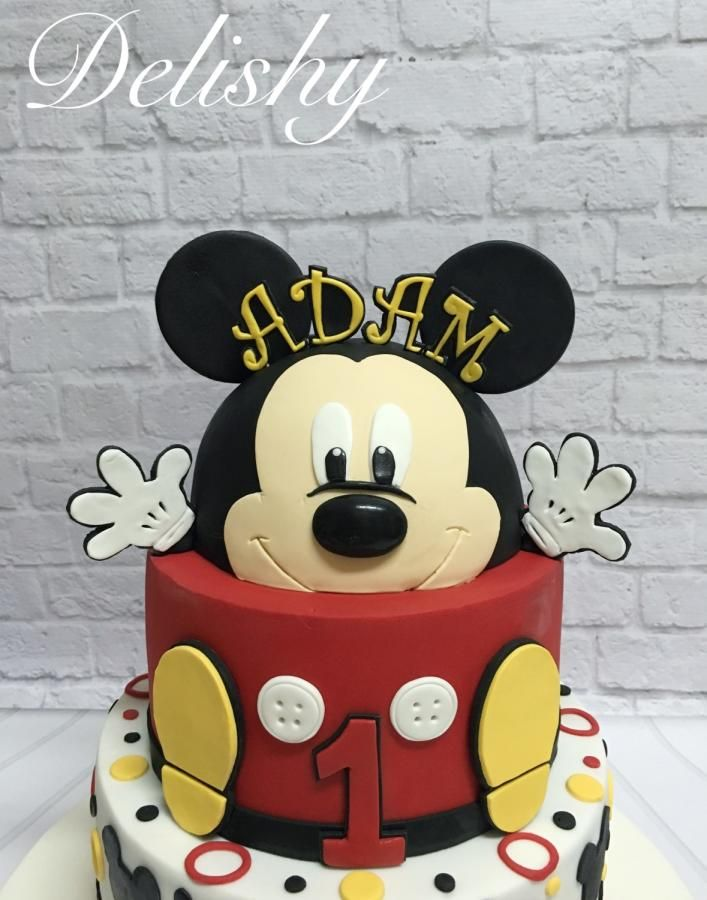 340 best Mickey Mouse Cake images on Pinterest Birthdays Conch