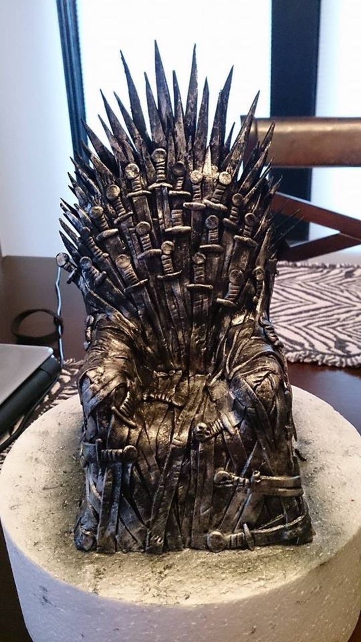 Game of thrones chair cake - Find This Pin And More On Cakes Game Of Thrones Cake Topper Iron Throne