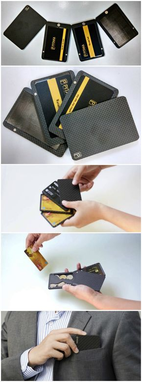 Pitaka Modular Magnetic  Carbon Fiber Wallet Luxury, Customizable, Versatile. A minimal wallet that fits all occasions through your everyday life.