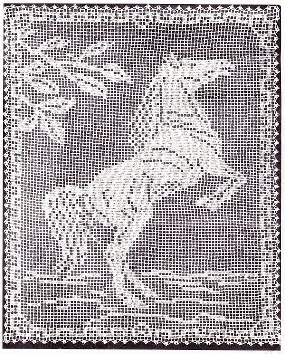 Bee Honeycomb Tablecloth Crochet Pattern Horse by PaperButtercup
