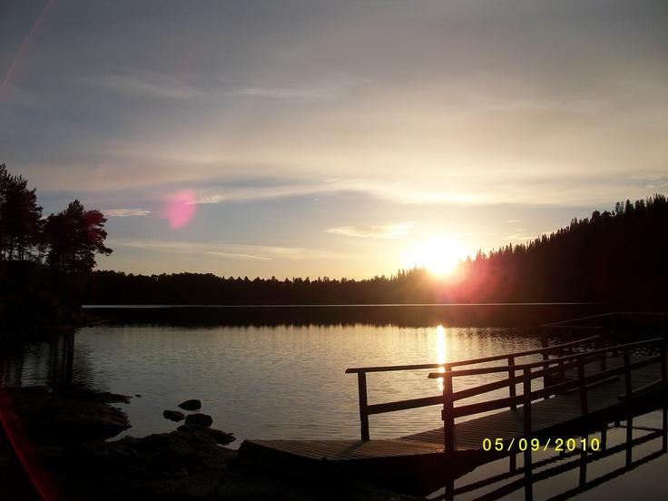 Sunset at the Haukaavatnet, Verdal, Norway