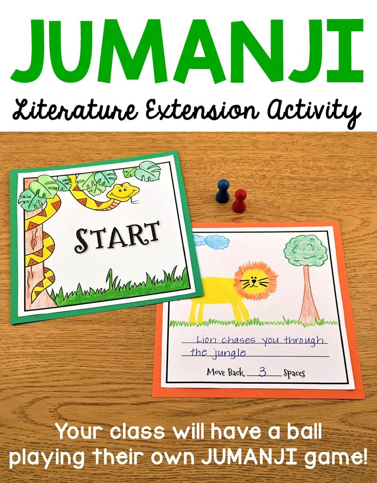 This is a fun literature extension activity to do after reading the book Jumanji by Chris Van Allsburg to your class. Your students will love creating their own version of Jumanji and playing it with their classmates!