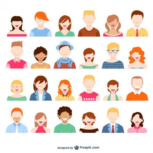 Character Design Salary : Personnages en flat design webdesign print