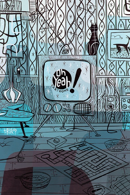 """Oh Yeah!"" TV illustrated by Tim Biskup by Fred Seibert, via Flickr"
