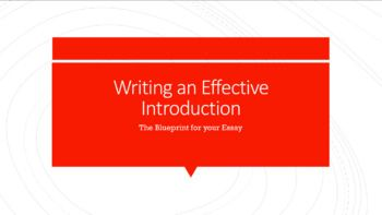 Writing an Effective Essay Introduction - Powerpoint Lesson