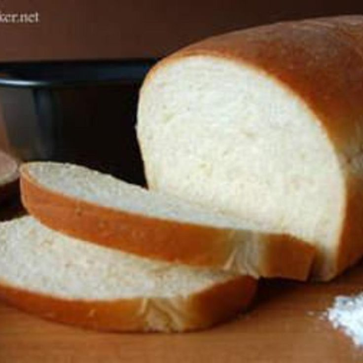 """Another of my """"go to"""" easy bread machine recipes. This promises to be fail proof and turns out a soft bread w/ a flaky crust. Perfect for all uses; my favorite is a big slice popped in the micro for 10 seconds and then slathered w/ butter for that """"hot out the oven"""" goodness!"""