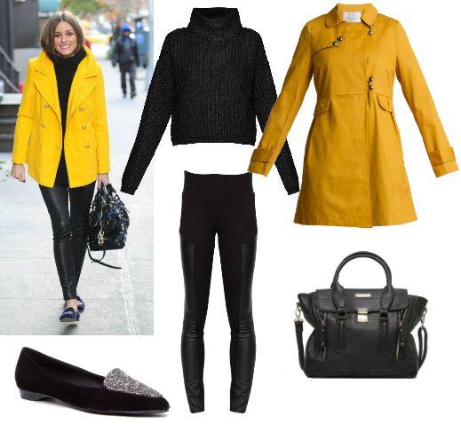 Copia el look de Olivia PAlermo con gabardina de Riverside, jersey y leggings de @veromodafashion, bailarinas @almaenpena y bolso Maria Mare.