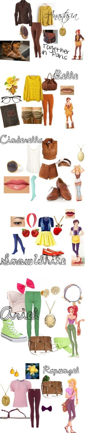"""Diney Princess Hipsters"" by kauaigurl4 on Polyvore DisneyBound"