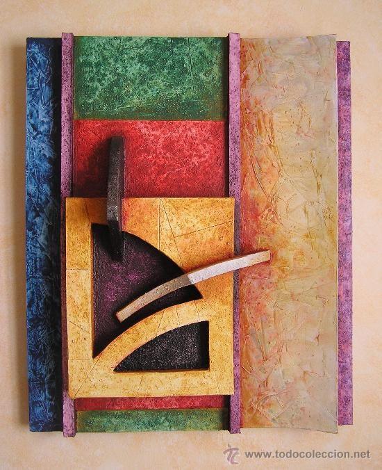 EXCELENTE ESCULTURA ABSTRACTA DE GRAN RELIEVE . AUTOR : JOSE SANZ SALA ( PIEZA UNICA ) (Arte - Escultura - Otros Materiales)