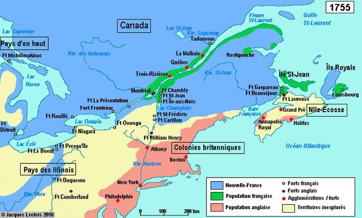 Les forts de la Nouvelle-France en 1755