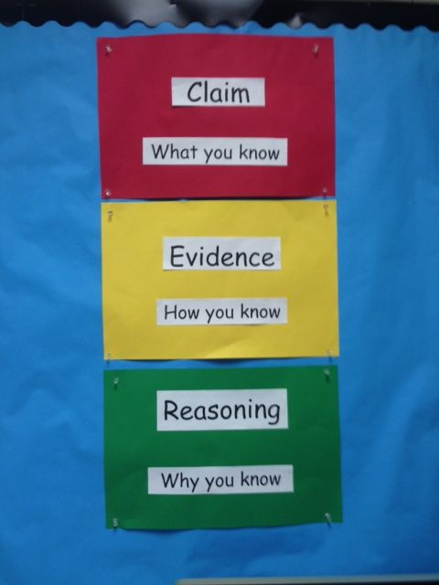 Claim, Evidence, Reasoning                              …