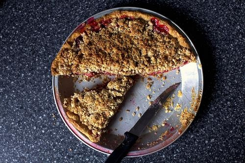 PiDay #recipe! Sour cherry pie with almond crumb topping via @Tackk