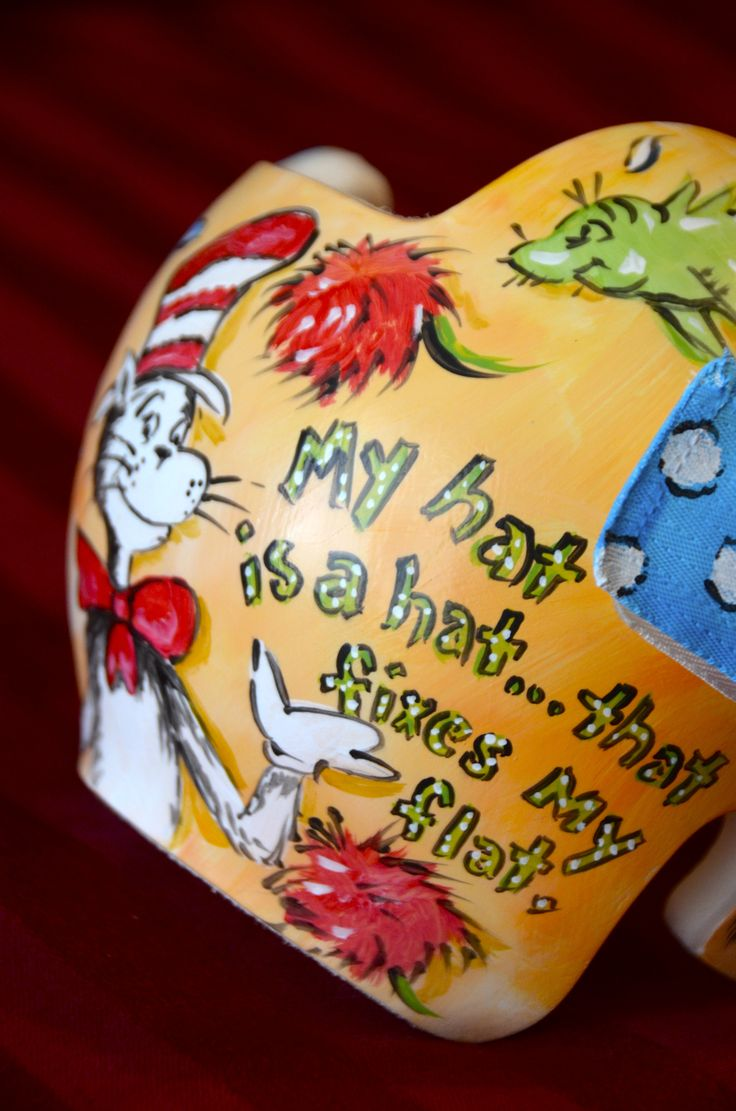 Seuss Cranial Band with orange as the base color. DOC band/Helmet  https://www.facebook.com/pages/Cranial-BandsMurals-by-Leigh-Gibson/153150921414230