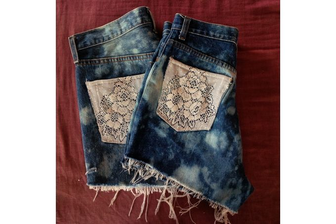 Lace Pocketed High Waisted Shorts by Chook Clothing
