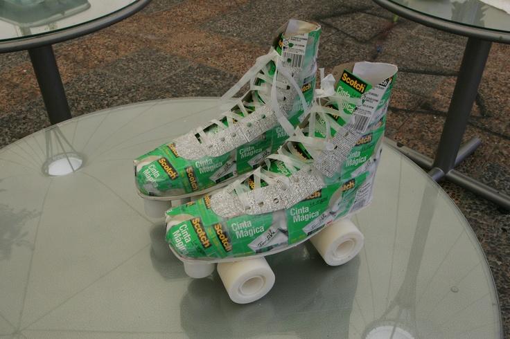 Concurso Uniacc 2011- diseñando con Scotch #patines #manualidades
