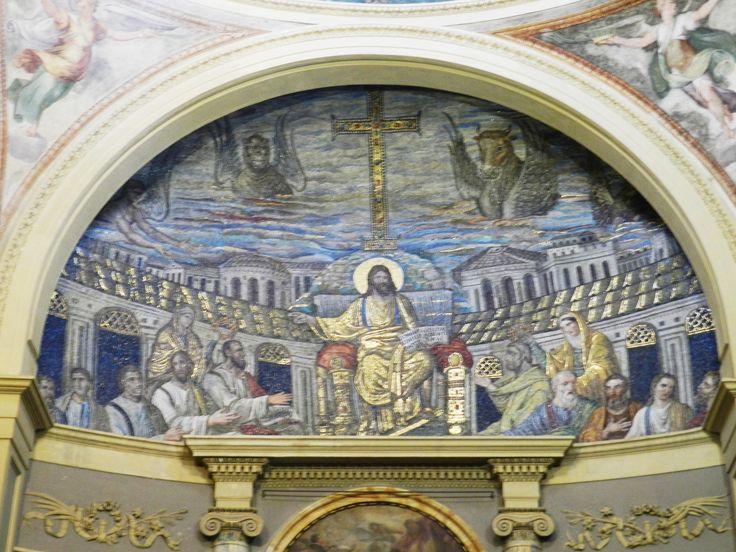 Cristo in trono, apostoli, Ss. Pudenziana e Prassede, inizi V sec. - 1500, S. Pudenziana, Roma.