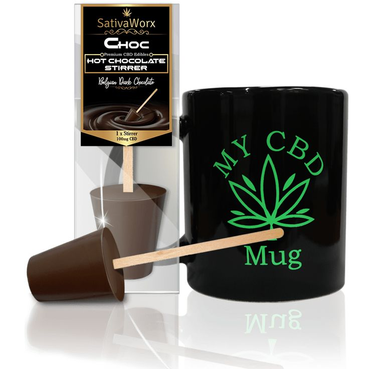 CBD Belgian Hot Chocolate Stirrers [Sativa] (Packs of 3)
