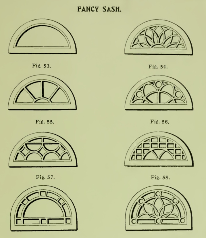 Fancy Half Round Windows From 1904 Rockwell Millwork
