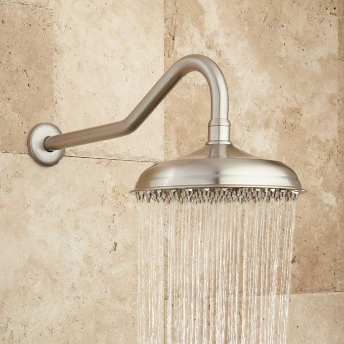 Piermont Rainfall Raised Nozzle Shower Head with Victorian Shower Arm