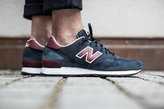 NEW BALANCE M670SNR NAVY/RED available at www.tint-footwear.com/new-balance-m670-snr New Balance M670SNR navy red leather sneaker runners kicks tint footwear studio munich