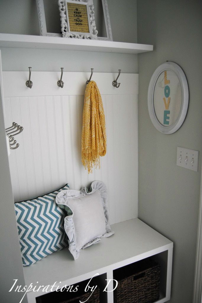 Small Mudroom Entry Reveal!#mudroom #built_in