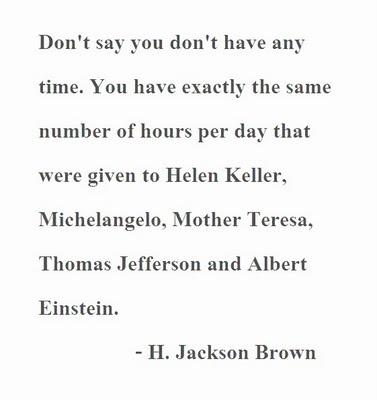 So true. NO excuses.