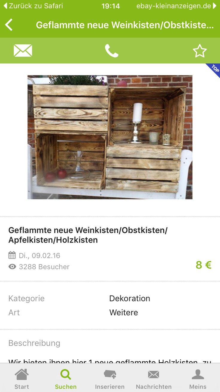 Weinkisten Bei EBay Kleinanzeigen
