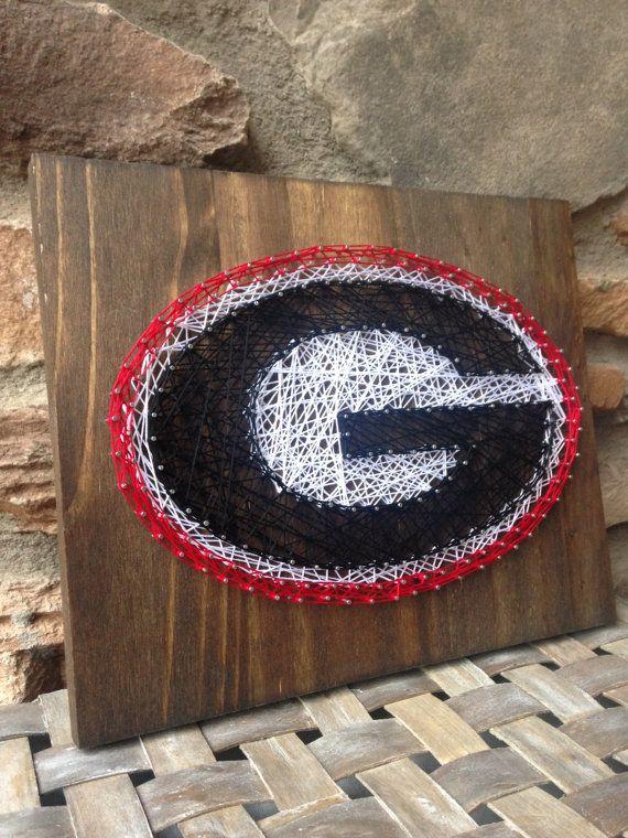 Georgia Bulldogs String Art Wood Sign Home Decor Nail Art Georgia
