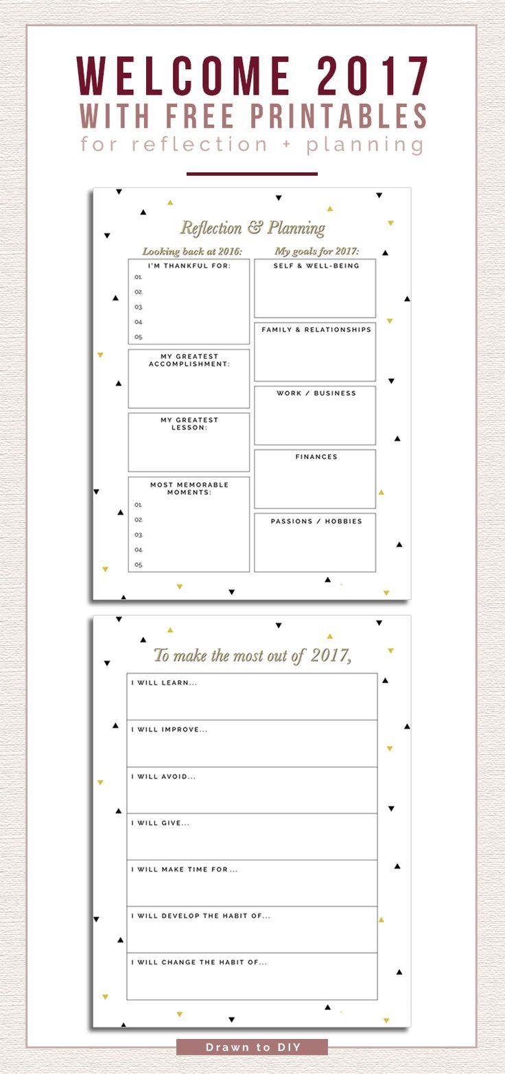 Free New Year's Resolution Printables @DrawntoDIY