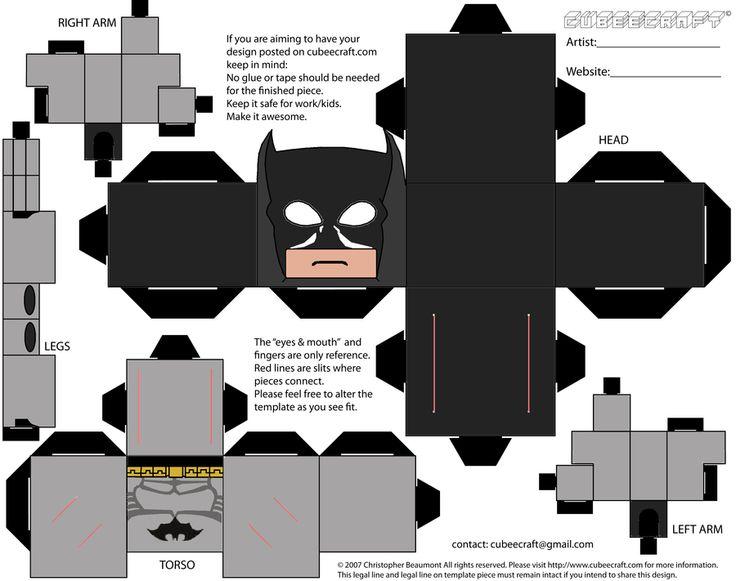Free lego batman cubecraft printable