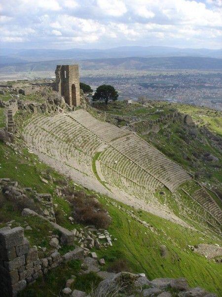 The ancient ruins of Pergamon in Bergama, Turkey.