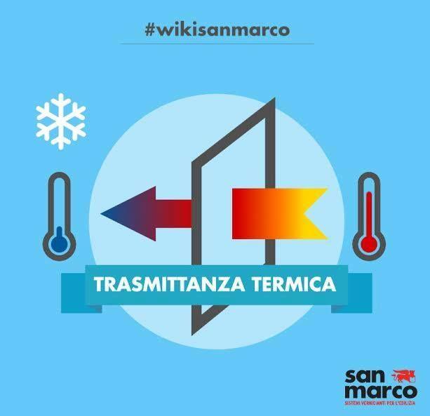 La trasmissione termica, anche detta trasmittanza di calore o trasmittanza termica è cruciale nel quantificare il fabbisogno energetico necessario a un edificio per la sua climatizzazione e costituisce, pertanto, un fattore d'interesse nella valutazione della classe energetica dell'edificio. #wikisanmarco