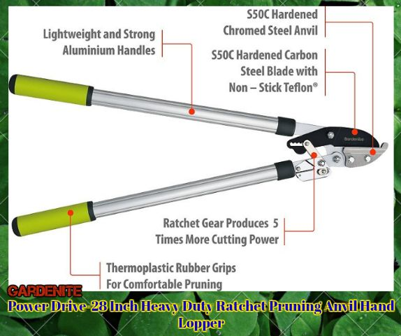 Light Weight Aluminium Garden Hedge & Tree Lopper - Ratcheting Lopping Shears Are Tree Loppers That Provide More Cutting Power