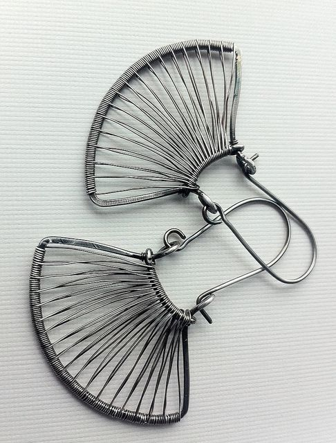 Silver fans by anikosandor, via Flickr- these would be better with 3mm crystals on every other wire