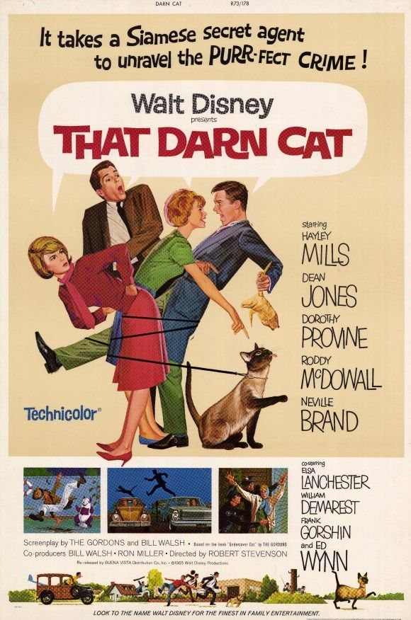 I love Hayley Mills films during her child/teen years, I love Siamese cats and I had THE biggest crush on Dean Jones.