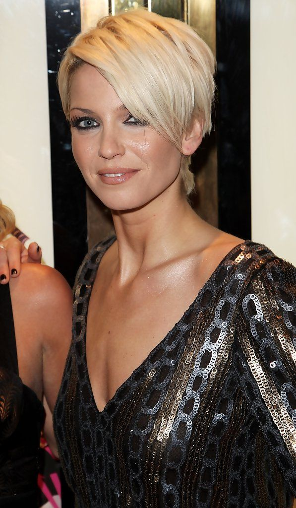 (UK TABLOID NEWSPAPERS OUT) Girls Aloud member Sarah Harding arrives at the world premiere of 'St Trinian's' at Empire Leicester Square on December 10, 2007 in London, England.