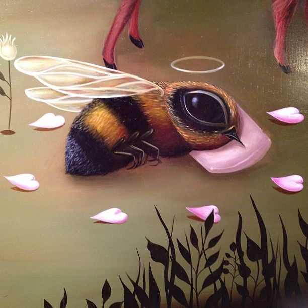 """Detail from """"The Curious Nature of Extraordinary Beings""""~ Oil Painting by Jennybird Alcantara"""