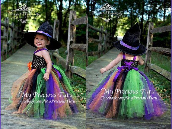 halloween tutu dress spooky witch tutu dress halloween wedding halloween flower girl witch tutu dress hat by my precious tutu - Halloween Tutu Dress