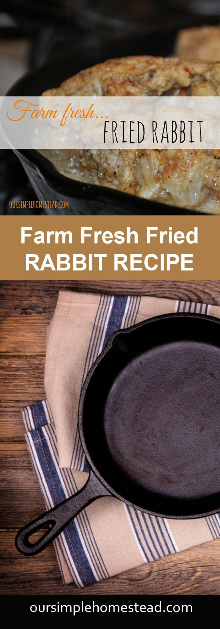 Fried Rabbit Recipe - The cycle continues…breed rabbit…raise rabbit…butcher rabbit. Raising rabbits for meat is one of the easiest and most cost effective ways to provide healthy lean meat for our family. We raise New Zealand Whites and grow three litters a year.